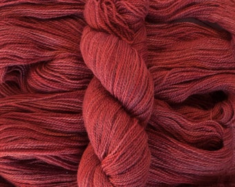 "Tern Fingering, ""Ruby"", BFL/Masham (75/25), 400 yards, 100 grams, 2 ply, non-superwash"
