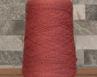 Salmon Cotton Linen Bamboo blend laceweight yarn, 2100 metres, 300 grams