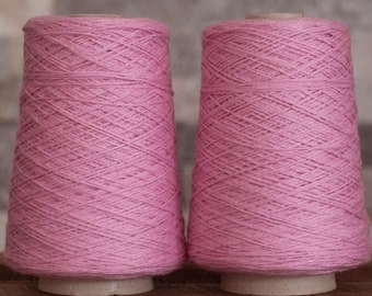 Silk/Cotton (50/50) DK weight yarn, 315 yards/100 grams, milled in Italy, price per cone.