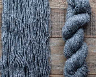 Undyed Natural Grey Romney Alpaca Blend worsted weight yarn, 175 yards, 100 grams, Canadian, small batch, rare breed
