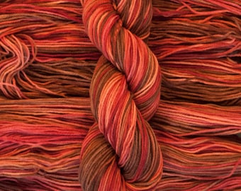 "Winterbird ""Smaug"" 100% Canadian Rambouillet Fingering Weight Yarn, hand dyed, 220 yards/60 grams, 3 ply, non-superwash"