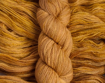 """Oriole """"Burnt Honey"""" – 21.5 micron wool/baby alpaca,(70/30), 400  yards, 100 grams, 2 ply, milled in South America, non SW"""