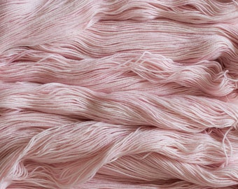 "Hand dyed Yarn ""Tutu"" Soft pink merino/nylon (75/25) fingering weight sock yarn, 425 yards/100 grams, 4 ply, superwash"