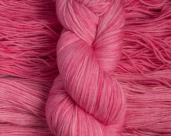 "Eider ""Pinka""  - 100% extra-fine merino fingering weight yarn, 420 yards/100 grams, 4 ply, non-superwash, hand dyed"