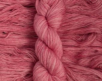 "Waxwing ""Sweet Pea"" Extra-fine merino/silk (75/25) fingering weight yarn, 435 yards, 100 grams, 4 ply"