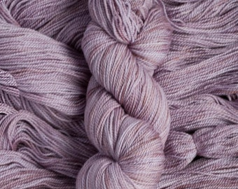"Feather ""Plum Tart"" – 100% 17 micron merino wool yarn, fingering weight, 400  yards, 115 grams, 2 ply, milled in Canada, superwash"