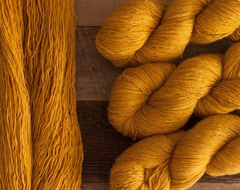 "Junco ""Goldenrod"" - 100% merino single ply fingering weight yarn, 400 yards, 100 grams, superwash"