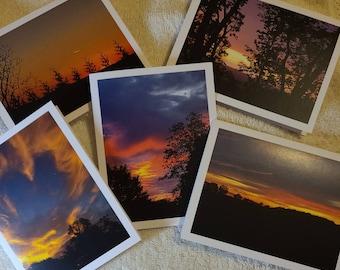Sunset Set of 6 Blank Notecards