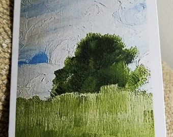 Lone Tree (1 Note Card with White Envelope)