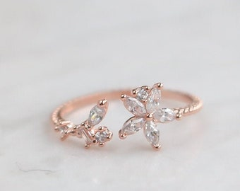 NEW* Finx Ring, Dainty, Delicate, Free Size Ring, Adjustable rings for women, For Her, Gift for Girlfriend Wife Women, Dainty Ring Flower
