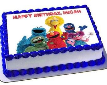 Sesame Street Cake Topper Birthday Edible ImagesFrosting Sheet Cupcake