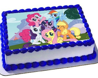 My Little Pony Edible Cake Topper Frosting Sheet Birthday Cupcake TopperEdible Images