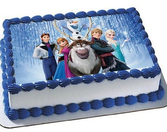 Frozen Cake Topper Edible Images Frosting Sheet
