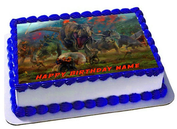Jurassic Park Fallen Kingdom Jurassic Park Birthdayedible Etsy