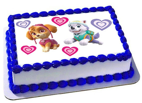 Skye Everest Paw Patrol Edible Cake Topper Edible Frosting Etsy