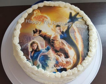 Fantastic four cake topper, fantastic four birthday, edible images,frosting sheet