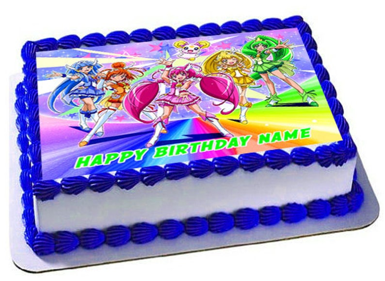 Glitter Force Edible Cake Topper Frosting Sheet