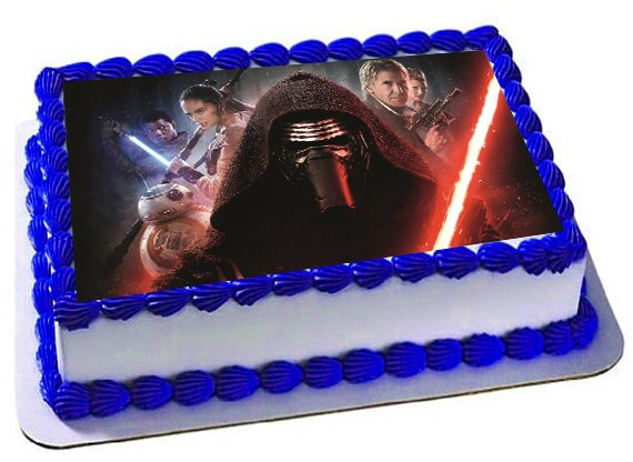 Star Wars Awakens Edible Cake Topper Frosting Sheet Icing Etsy