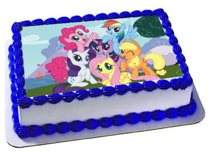 My Little Pony Edible Cake Topper Frosting Sheet