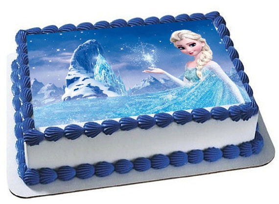 Frozen Birthday Party Cake Topper Cupcake