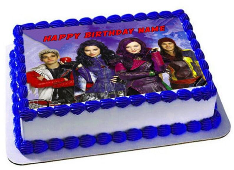Disney Descendants Edible Cake Topper Birthday