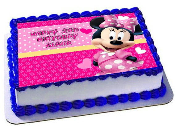 Minnie Mouse Cake Topper Minnie Mouse Birthday Party Minnie Etsy