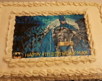 Batman Edible Images,Batman Cake Topper, Batman frosting sheet, Batman Birthday Party,Superhero birthday Party