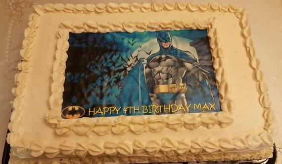 Batman Edible ImagesBatman Cake Topper Frosting