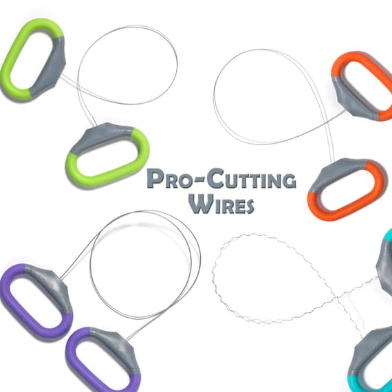 "13/"" Daring Xiem Pro-Cutting Wires CLAY WIRE CUTTER WAVY Pottery Cut-Off Tools"