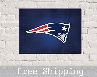 572135e16 New England Patriots - Patriots Canvas - Canvas Print - Football Print -  Football gift - Free Shipping