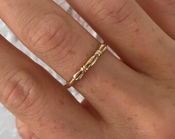 Bamboo Wedding Ring Etsy