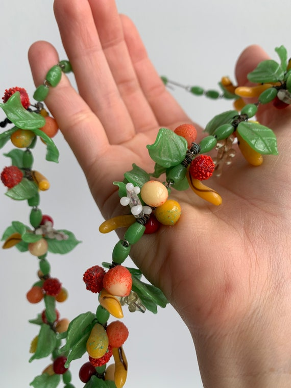 Vintage Italian Glass Fruit Necklace
