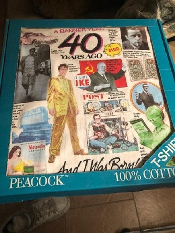 40 Years Ago Banner Year Elvis 1996 TShirt