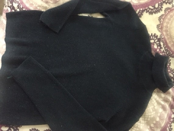 Liz Claibourne Lizsport Women's Blue Sweater Metal