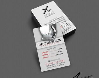 Barber business card etsy business card design barber business card salon stylist hairdresser barbershop branding colourmoves