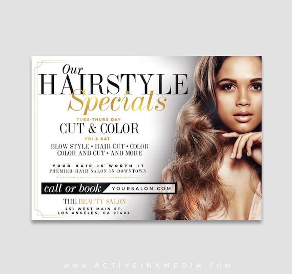 Hair Stylist Flyer Design Hair Salon Branding Hair Salon Etsy
