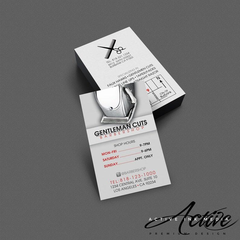 Business Card Design  Barber business card  Salon  Stylist image 0
