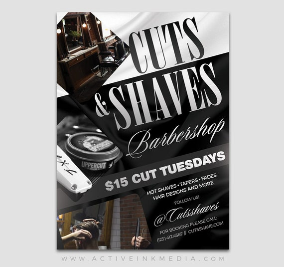 Barber Flyer Design Barbershop Flyer Salon Hair Stylist Etsy