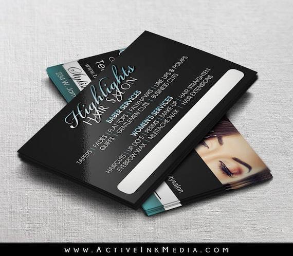 Haar Stylist Visitenkarten Visitenkarte Design Friseur Salon Friseur Friseursalon Brandstempel