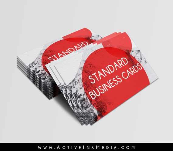 business cards standard printing 16 thick stock high gloss etsy