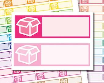 Package Stickers, Printable Package Planner Stickers, Packaging Stickers, Package Box Stickers, Printable Shipping Planner Stickers - PS74