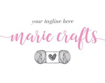 Craft Logo Handmade Business Handicraft Crochet Knit Script Photography Design Blogger