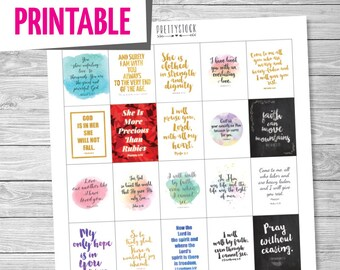Motivational Quotes Planner Stickers Printable Planner Etsy