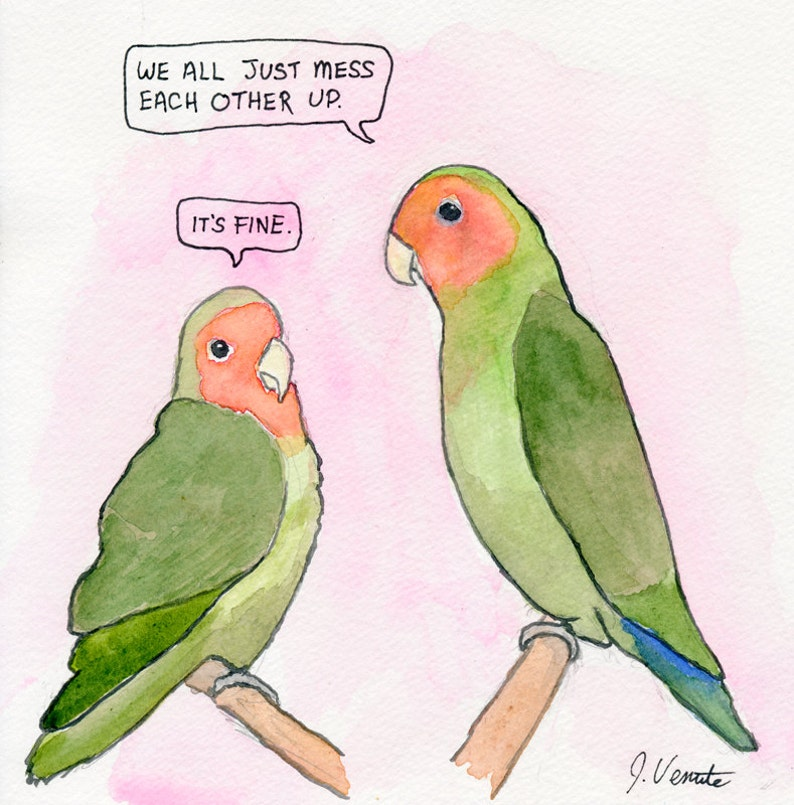 The Rosy-Faced Lovebirds image 0
