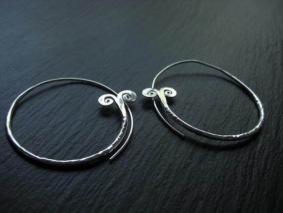 Ethnic Brass Hoops Earrings . Tribal Exotic Jewelry . FREE SHIPPING CANADA