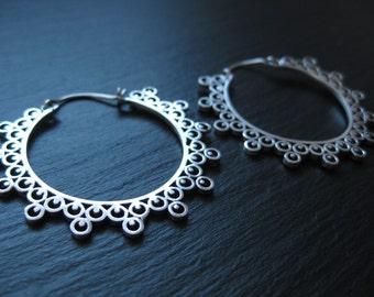 Molecule Hoop Earrings . Modern Tribal Earrings . Mandala Jewelry . Urban Steampunk . Ethnic Boho Chic . FREE SHIPPING in Canada