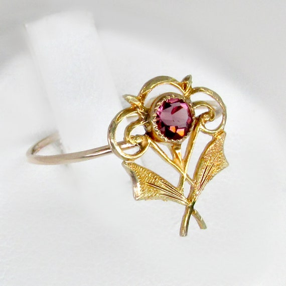 gold amethyst ring, art deco amethyst ring, amethy