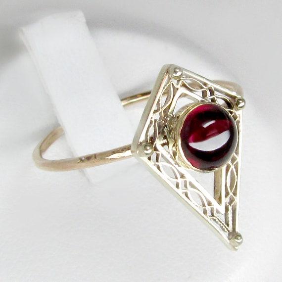 gold amethyst ring, amethyst ring, red amethyst ri