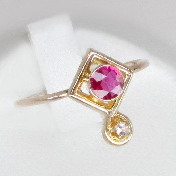 ruby ring, diamond ruby ring, art deco ring, art d