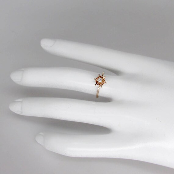 gold diamond ring, antique diamond ring, gold sol… - image 4